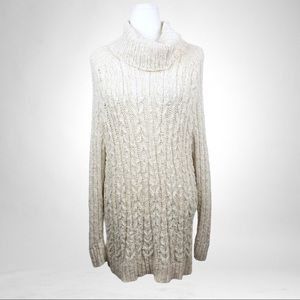 Free People CowlNeck Open Back Chunky knit Sweater